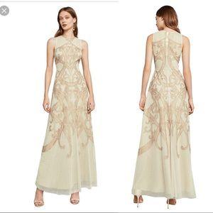 BNWT BCBG Maxazria Acostas Lace-Appliqué gown